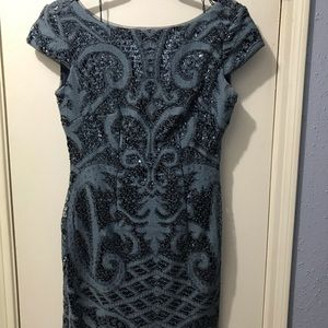 Dresses & Skirts - Blue and Lace Sequin Party Dress (Never Worn)